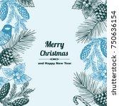 vintage design for christmas... | Shutterstock .eps vector #750636154