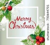 merry christmas background... | Shutterstock .eps vector #750644701