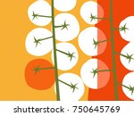 abstract fruit and vegetable... | Shutterstock .eps vector #750645769