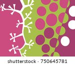 abstract fruit design in flat... | Shutterstock .eps vector #750645781