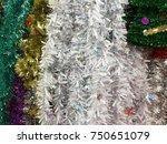 plastic garland ribbon .... | Shutterstock . vector #750651079
