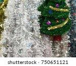 plastic garland ribbon .... | Shutterstock . vector #750651121