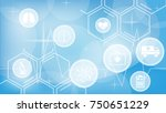 abstract medicine and science... | Shutterstock .eps vector #750651229