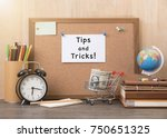 paper note with tips and tricks ... | Shutterstock . vector #750651325
