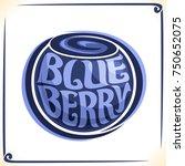 vector logo for blueberry ...   Shutterstock .eps vector #750652075