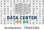 data  server  centre website...   Shutterstock .eps vector #750652381
