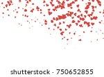 light red vector greeting card... | Shutterstock .eps vector #750652855