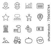 thin line icon set   pointer ...