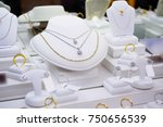 jewelry diamond gold shop with...   Shutterstock . vector #750656539