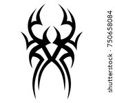 tribal pattern tattoo vector... | Shutterstock .eps vector #750658084