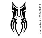 tattoo tribal vector design.... | Shutterstock .eps vector #750658111