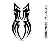 tattoo tribal vector design....   Shutterstock .eps vector #750658111