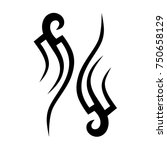 tattoo tribal designs. sketched ... | Shutterstock .eps vector #750658129