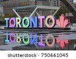 toronto  canada   oct 11  2017  ... | Shutterstock . vector #750661045