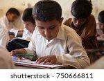 boys studying. thatta  sindh ... | Shutterstock . vector #750666811