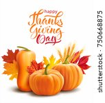 happy thanksgiving composition...   Shutterstock .eps vector #750668875