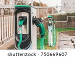 charger for electric cars in a... | Shutterstock . vector #750669607