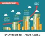 gross domestic product... | Shutterstock .eps vector #750672067