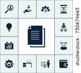 document icon business set... | Shutterstock .eps vector #750674665