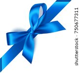 decorative blue bow with... | Shutterstock .eps vector #750677311