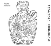 vector coloring book for adults.... | Shutterstock .eps vector #750679111