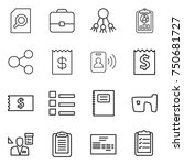 thin line icon set   search... | Shutterstock .eps vector #750681727