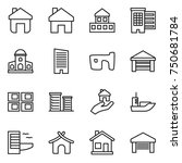 thin line icon set   home ...   Shutterstock .eps vector #750681784