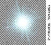 star burst with sparks  light... | Shutterstock .eps vector #750682831