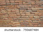 old brick wall background and... | Shutterstock . vector #750687484