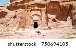 tomb in the antique site of... | Shutterstock . vector #750694105