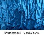 blue shade plastic texture... | Shutterstock . vector #750695641