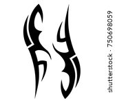 tattoo tribal designs. sketched ... | Shutterstock .eps vector #750698059