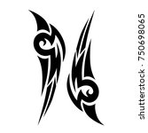 tattoo tribal designs. sketched ... | Shutterstock .eps vector #750698065