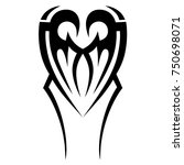 tattoo tribal designs. sketched ... | Shutterstock .eps vector #750698071