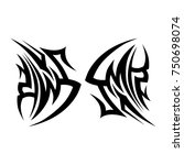 tattoo tribal vector design.... | Shutterstock .eps vector #750698074