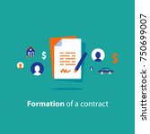 contract creation service ... | Shutterstock .eps vector #750699007