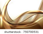 abstract gold and brown waves... | Shutterstock . vector #750700531
