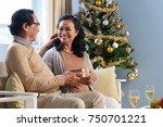 senior vietnamese man giving... | Shutterstock . vector #750701221