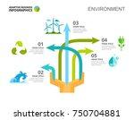 arrow chart slide template   Shutterstock .eps vector #750704881