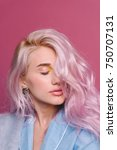 a studio close up portrait of... | Shutterstock . vector #750707131
