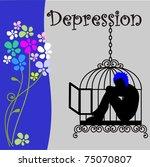 depression | Shutterstock .eps vector #75070807