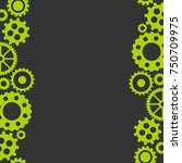 vector flat background with... | Shutterstock .eps vector #750709975