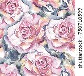 watercolor seamless pattern .... | Shutterstock . vector #750710599