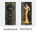 art deco vintage invitation... | Shutterstock .eps vector #750710971