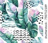 abstract summer background. art ... | Shutterstock . vector #750712189