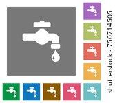 water faucet with water drop... | Shutterstock .eps vector #750714505