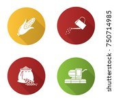 agriculture flat design long... | Shutterstock .eps vector #750714985