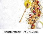 ingredients for making healthy... | Shutterstock . vector #750717301