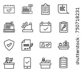 thin line icon set   calendar ...   Shutterstock .eps vector #750718231