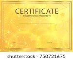 certificate  diploma of... | Shutterstock .eps vector #750721675